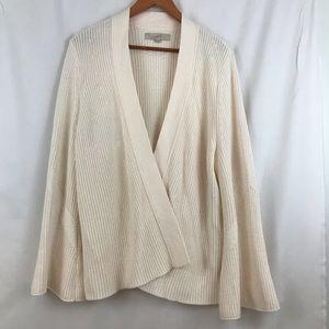 Loft cream colored open front sweater